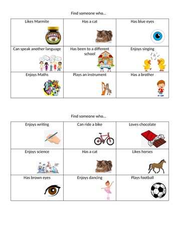 Meet the Teacher Morning - Get to know you BINGO - Perfect icebreaker activity