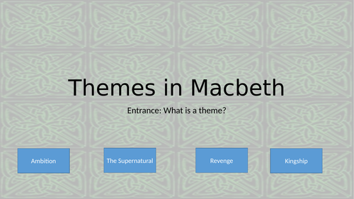 Themes in Macbeth (4 lessons)