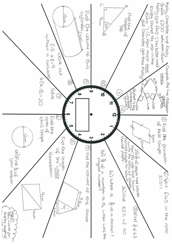 GCSE FOUNDATION REVISION CLOCKS (Great for end of term activities!)