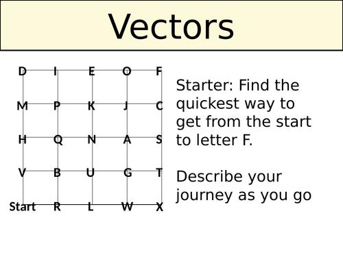 Vectors - For GCSE Foundation (New Spec)