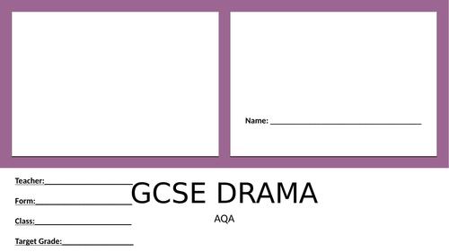AQA GCSE DRAMA REVISION BOOKLET