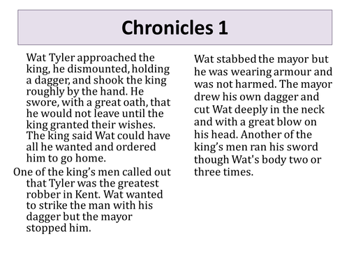 Who was to blame for Wat Tyler's death?