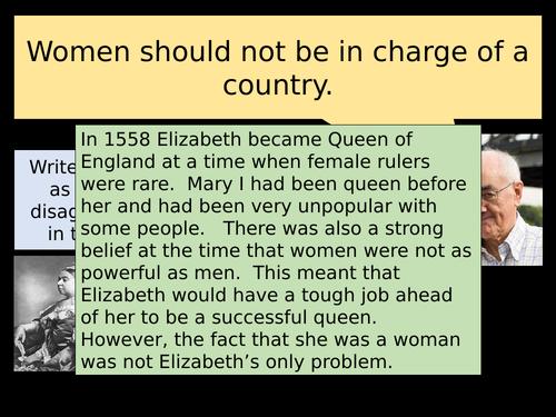 Elizabeth I's Problems.
