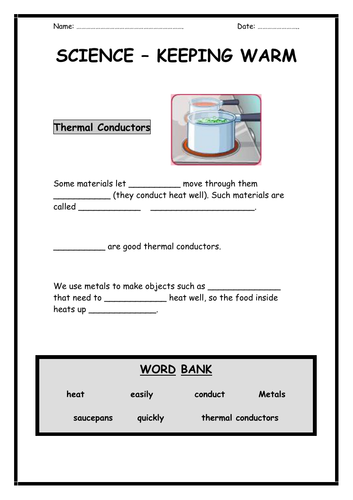 Conductors and Insulators Activity Pack