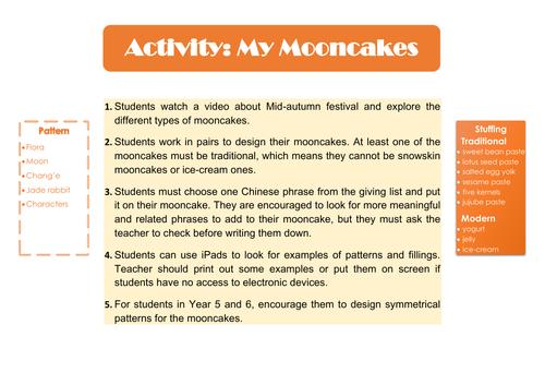 Moon Festival Activity_Mandarin Chinese