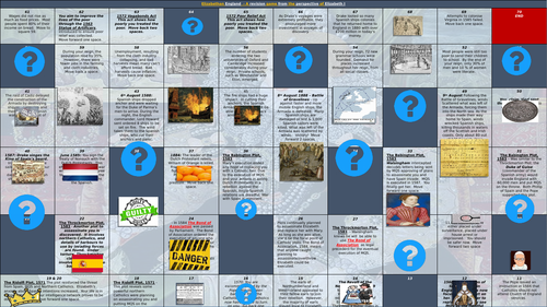 Edexcel Elizabeth Revision Board Game