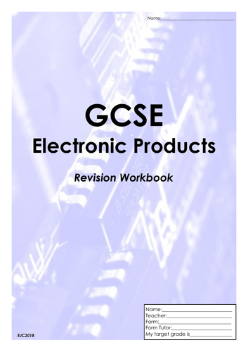 Electronic Products Revision Workbook (32 pages)