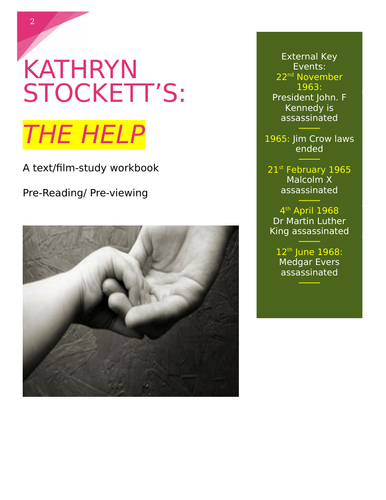 The Help  study guide (Pre-viewing/reading activities)