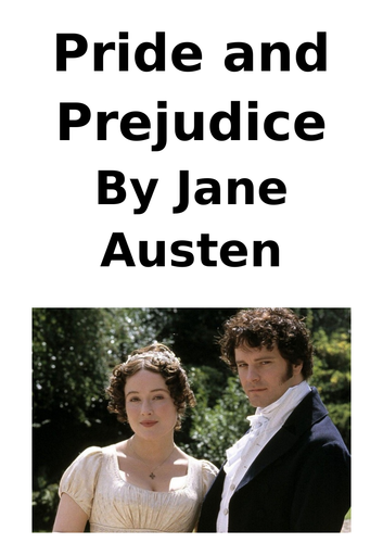 GCSE English Literature Pride and Prejudice Key Quotations Revision Booklet Chapters 1-10