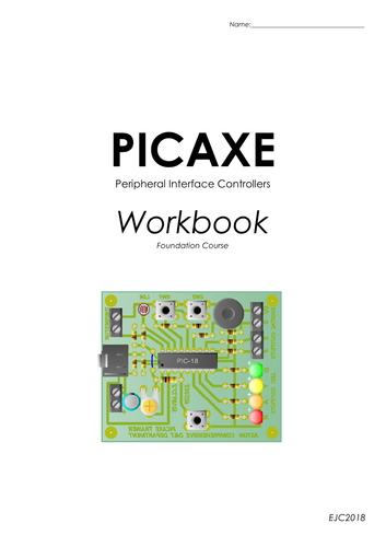 Microcontroller training board project & workbook (PICAXE)