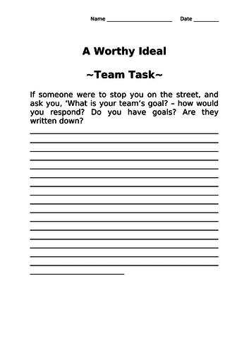 Team Goal Development