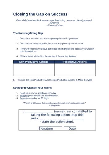 Closing the Gap on Success