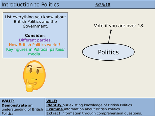 Introduction to British Politics (KS3)