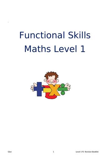 Level 1 Functional Skills Mathematics Booklet (Edexcel)