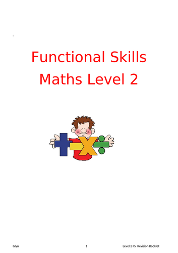 Level 2 Functional Skills Maths Booklet