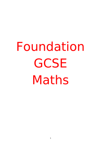 GCSE Revision Booklet and Answers