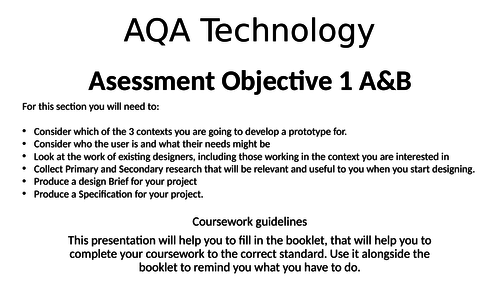 GCSE D&T 9-1 Coursework help - AO 1 A&B- Research, User  needs, Designers, Brief and Specification