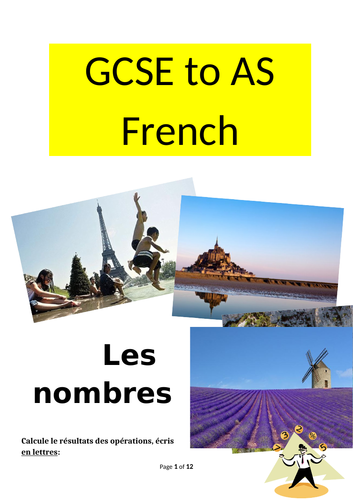 Summer workbook for Y11 GCSE students going to Y12 A level French