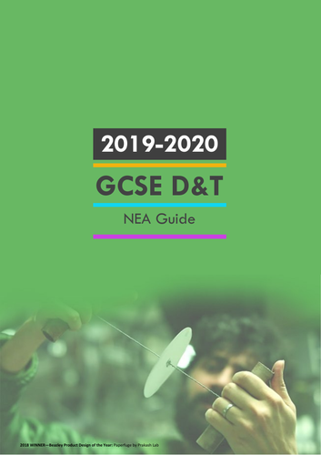 GCSE D&T Pupil NEA guide 2019-2020