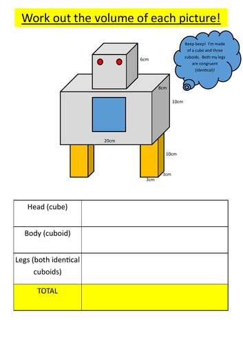 Volume of robots - volume problem solving!