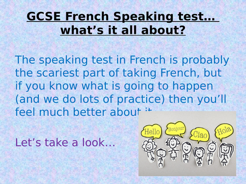 FRENCH SPEAKING 9-1 STUDENT GUIDE