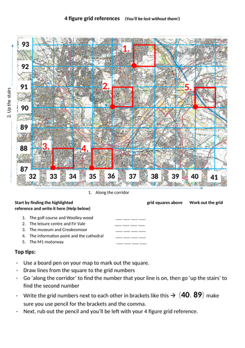 4 figure grid references (With support)
