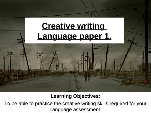 Creative writing revision lesson. Language Paper 1. AQA English.