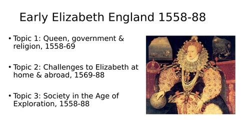 GCSE SOW on Elizabeth I
