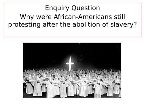 10 lesson SOW on Civil Rights & Black Power for KS3