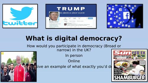 Edexcel Citizenship 9-1 Theme D What is Digital Democracy