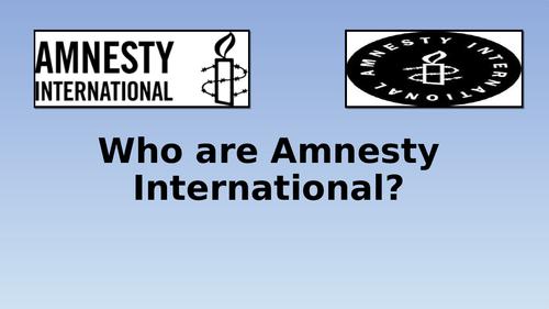 Edexcel Citizenship 9-1 Theme D Amnesty International