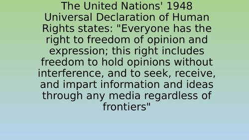 Edexcel Citizenship 9-1 Theme D Free Press