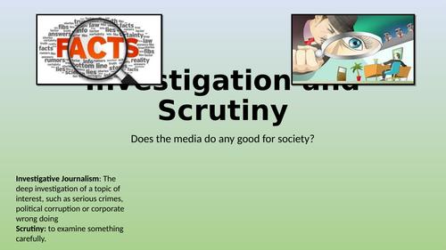 Edexcel Citizenship 9-1 Theme D Investigation and Scrutiny