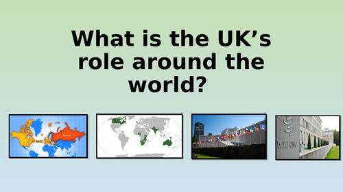 Edexcel GCSE Citizenship 9-1 Theme D The UK's Role Around The World