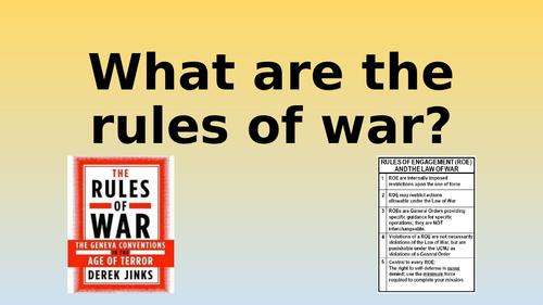 Edexcel GCSE Citizenship 9-1 Theme D Rules of War