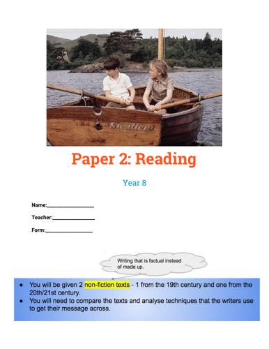 Paper 2, Language (AQA) booklet