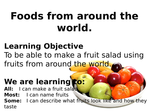 World foods lesson