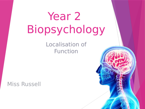 A Level Psychology AQA - BioPsych Year 2 - Localisation of Function