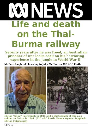 Ezine article - Life and death on the Thai-Burma Railway