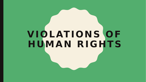 Human Rights Violations At Present - OCR Geography