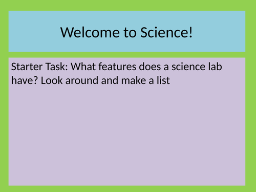 Intro to Science - Lab Safety