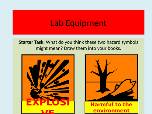 Intro to Science - Lab Equipment