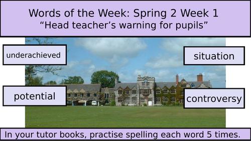 Whole-School Spelling Unit