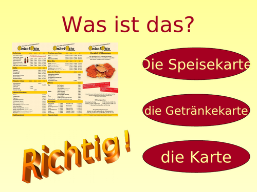 Im Restaurant / Essen und Trinken / At a restaurant / Food and drink