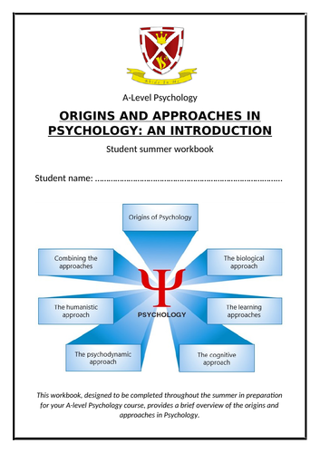 AQA A level Psychology Induction booklet