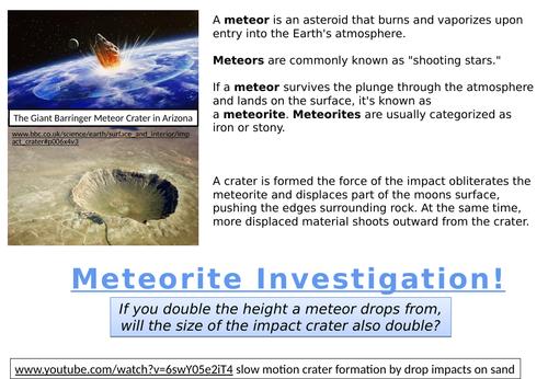 METEORITE INVESTIGATION