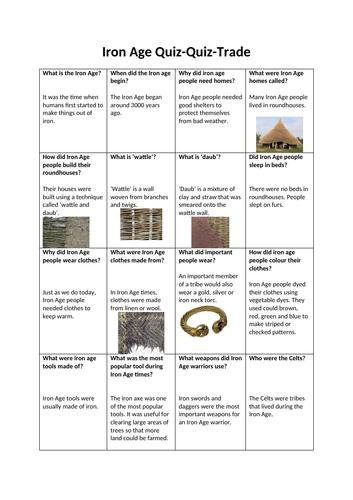 Iron Age Quiz Quiz Trade