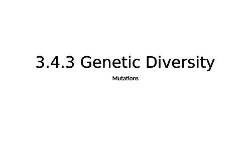 AQA A Level Biology Mutations