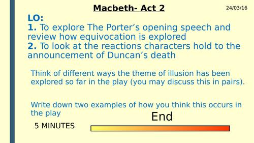 Macbeth Act 2 Scenes1-4