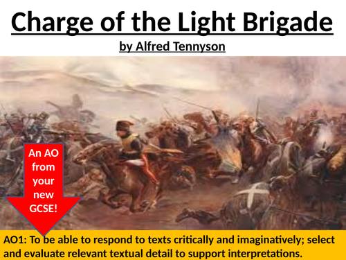 Charge of the Light Brigade by Tennyson fully annotated lesson AQA GCSE Literature paper 2